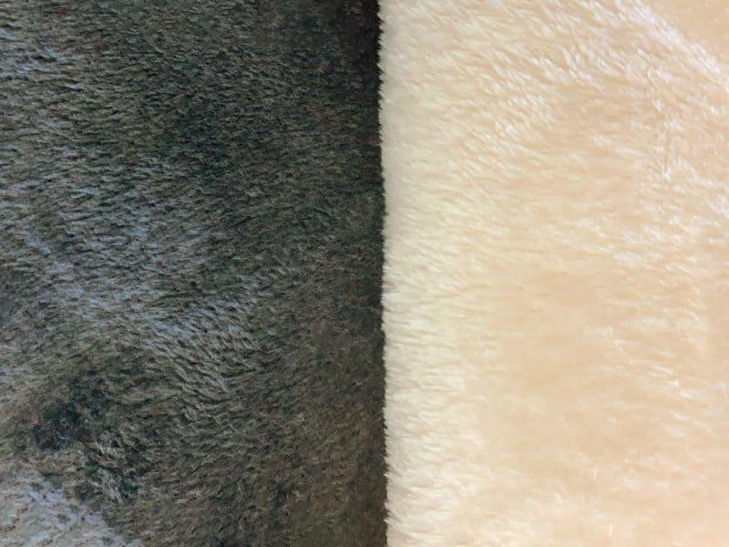 Stoffmuster Microfaser Grau Creme