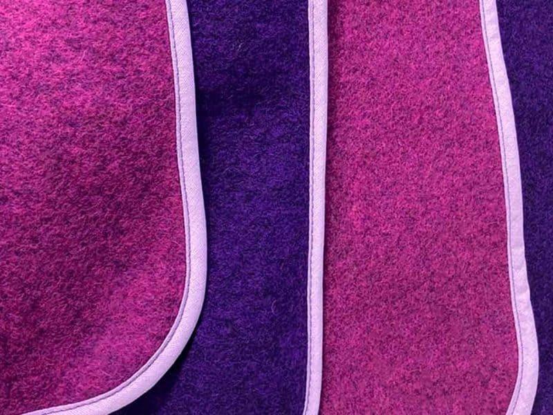 Lodendecke Pink Lila Detail