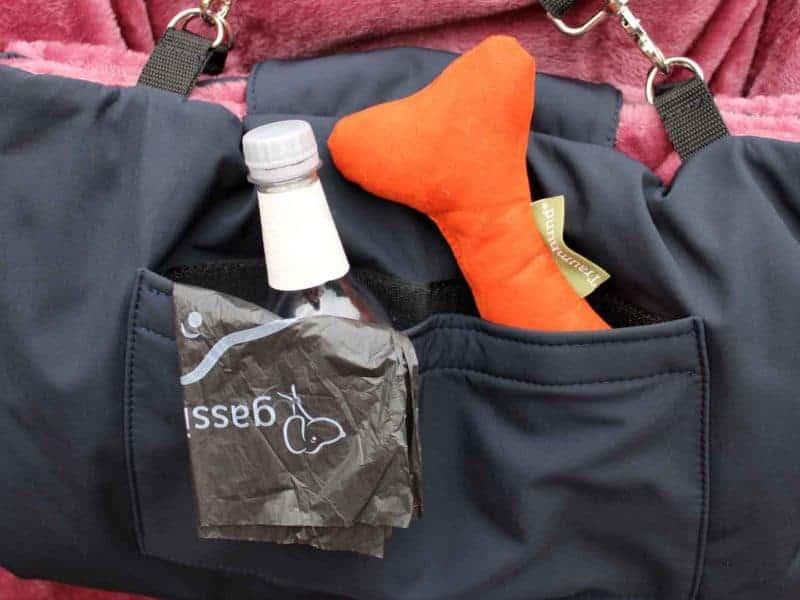 Traumhund® Picknick: Outdoordecke und Tasche Marine Berry Zusatztasche