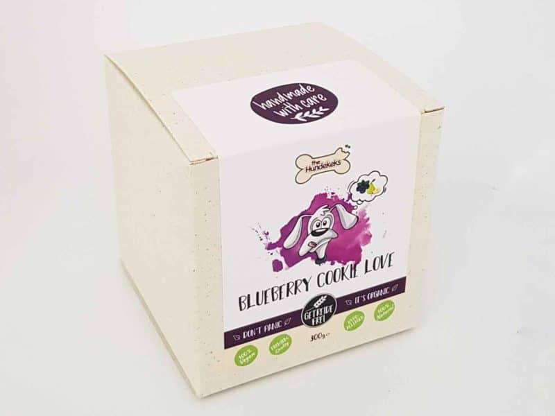 vegane Bio-Hundeleckerli von The Hundekeks in der Sorte Blueberry Cookie Love