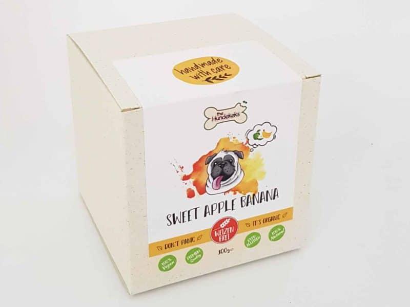 vegane Bio-Hundeleckerli von The Hundekeks in der Sorte Sweet Apple Banana