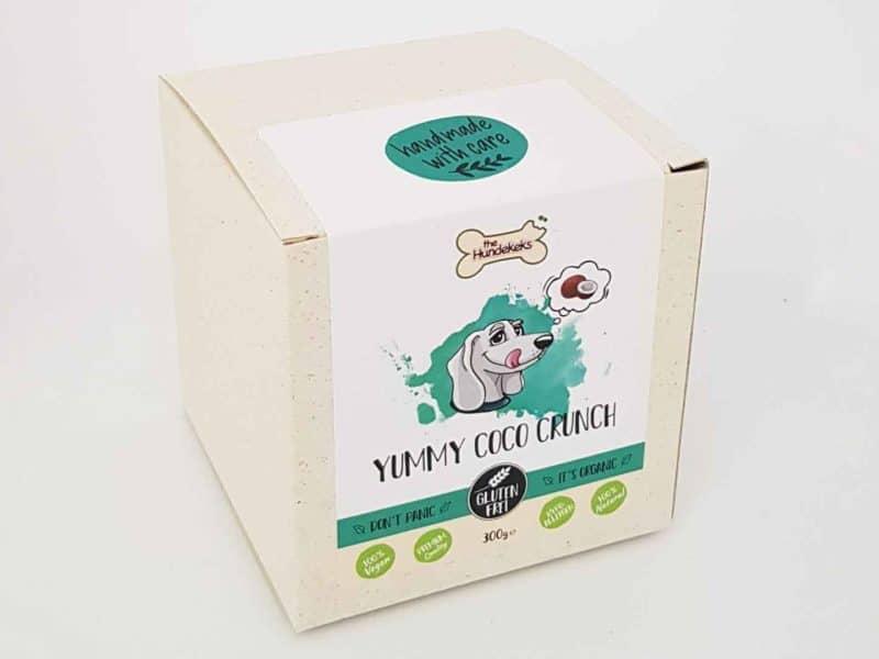 vegane Bio-Hundeleckerli von The Hundekeks in der Sorte Yummy Coco Crunch